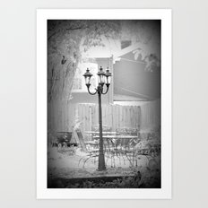 Outdoor Vacant dining Art Print