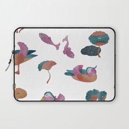 Watercolor mandarin ducks and avocet Laptop Sleeve