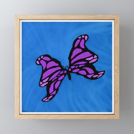 Purple Butterfly Framed Mini Art Print