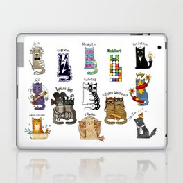 Science cats. History of great discoveries. Schrödinger cat, Einstein. Physics, chemistry etc Laptop & iPad Skin