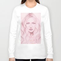 water colour Long Sleeve T-shirts featuring Water Colour Girl by DeeDee Design