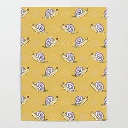 Snails & Swirls Pattern Poster