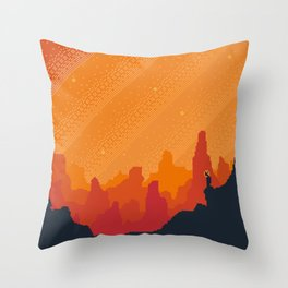 MARS Space Tourism Travel Poster Throw Pillow