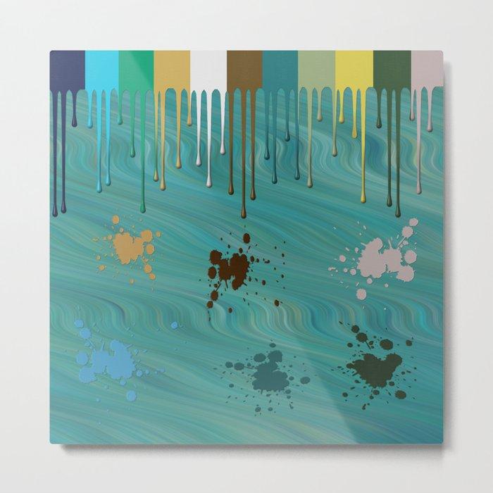 Messy Painter Metal Print