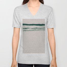 white noise Unisex V-Neck