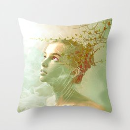 The spirit of the forgotten clearing Throw Pillow