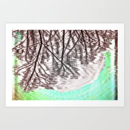 Glitch in the Forest Art Print