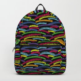 eyelashes colors pattern Backpack