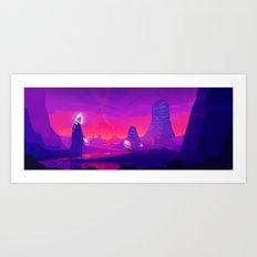 Alien planet Art Print