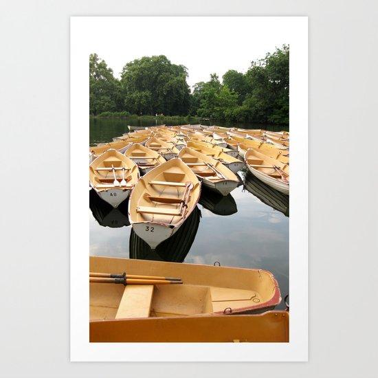 Bois de Boulogne Paris Boats Art Print
