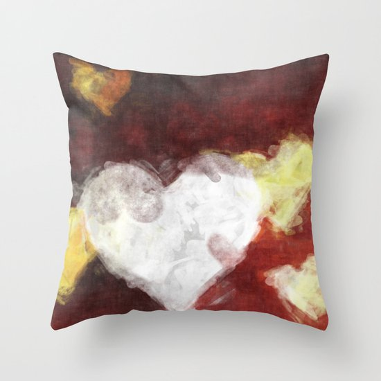 Valentines Hearts Throw Pillow