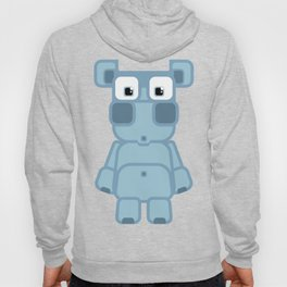 Super cute cartoon blue pig - bring home the bacon with everything for the pig enthusiasts! Hoody