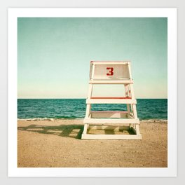 Lifeguard Station #3 Art Print