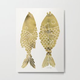 Indonesian Fish Duo – Gold Palette Metal Print