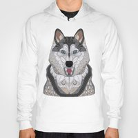 husky Hoodies featuring Happy Husky by ArtLovePassion