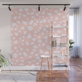 Pink Coral Spotty Dots Wall Mural
