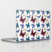 butterflies Laptop & iPad Skins featuring Butterflies by Katerina Izotova Art Lab