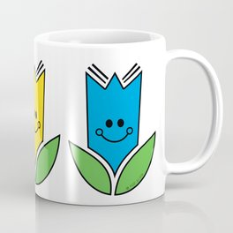 Flowers Of Primary Colors - Fleurs Aux Couleurs Primaires Coffee Mug