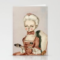 marie antoinette Stationery Cards featuring Marie Antoinette by Maripili