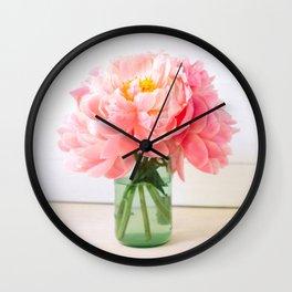 peonies 06 Wall Clock