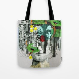 It´s all in your mind · Statue 3x Tote Bag