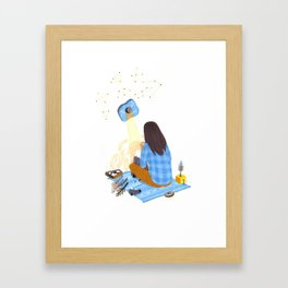 Tiny mountain Framed Art Print