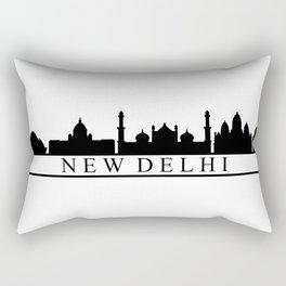skyline new delhi Rectangular Pillow