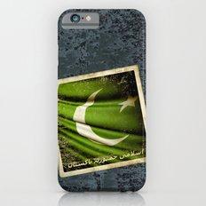 Islamic Republic of Pakistan grunge sticker flag iPhone 6s Slim Case