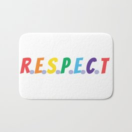 RESPECT (rainbow colors) Bath Mat