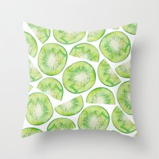Watercolour Kiwi Fruit Throw Pillow