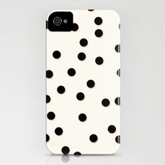 Black & Coral Dots iPhone (4, 4s) Slim Case
