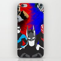 nightwing iPhone & iPod Skins featuring Nightwing, Red Hood by dudesweet