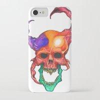 rasta iPhone & iPod Cases featuring RASTA DEMON by The Anti-Dan Artwork
