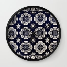 Floral Fabric Vintage Gift Pattern #3 Wall Clock