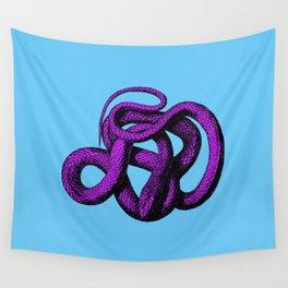 Snek 4 Snake Purple Blue Wall Tapestry