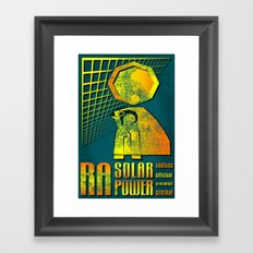 Ra Solar Power Framed Art Print