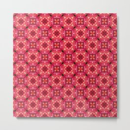 Rose Floral Pattern Metal Print