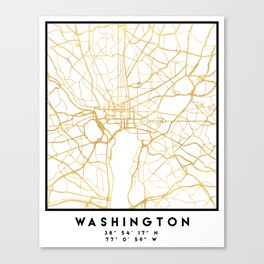 WASHINGTON D.C. DISTRICT OF COLUMBIA CITY STREET MAP ART Canvas Print