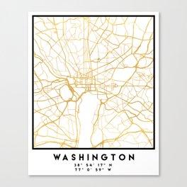 WASHINGTON D.C. DISTRICT OF COLUMBIA CITY STREET MAP ART Canvas Print