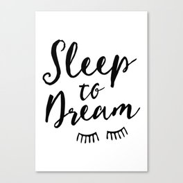 Sleep to Dream | by Kukka Canvas Print
