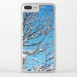 Winter Time Tree Clear iPhone Case