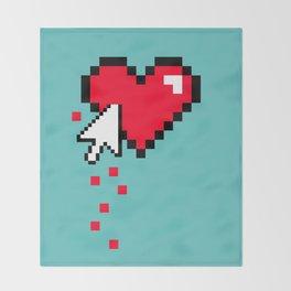 Broken 8 bits Heart Throw Blanket