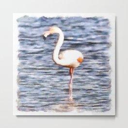 Just Like A Flamingo Metal Print