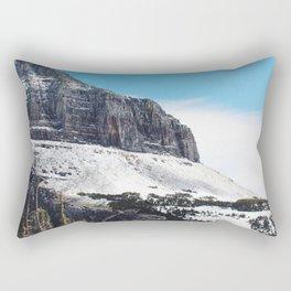 At the top of Glacier National Park Rectangular Pillow