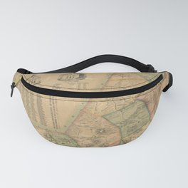 Henry F Walling - Map of the Town of Wrentham, Norfolk County, Massachusetts (1851) Fanny Pack