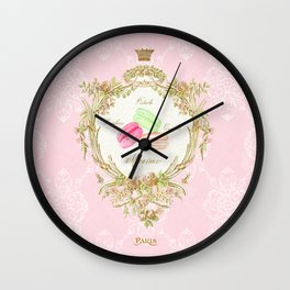 French Patisserie Macarons Wall Clock