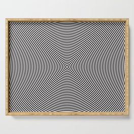 op art - circles Serving Tray