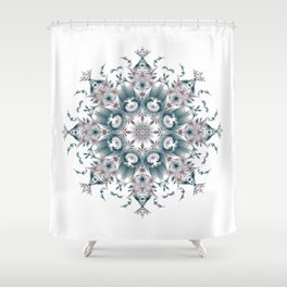 Kat Scratch • Digital Mandela • Dusty Purple & Blue Shower Curtain