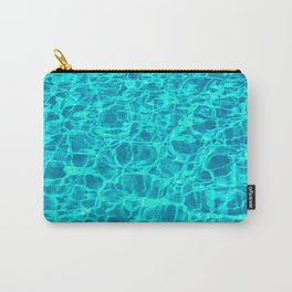 Water Crystal Blue Carry-All Pouch
