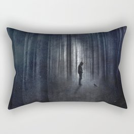 Raven  + Man Rectangular Pillow